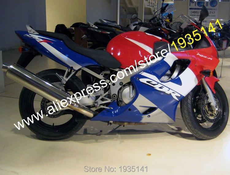 Carenado de bicicleta deportiva para Honda CBR600 F4i 2004 2005 2006 2007 CBR 600 F4i 04 05 06 07 rojo, blanco y azul (moldeado por inyección)