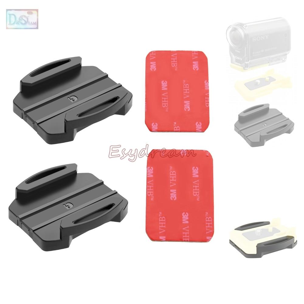 2 soportes de superficie plana + 2 adhesivos para Sony Action Cam HDR-AS30V HDR-AS100V HDR AS15 AS20 AS200V AS100V reemplazar VCT-AM1