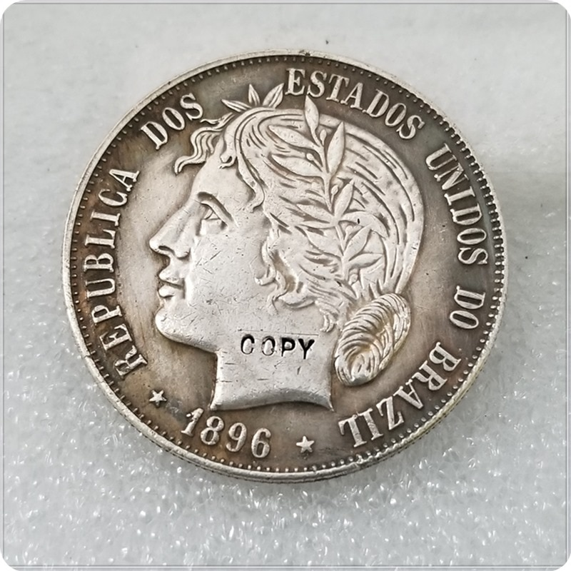 1896 Brazil 2000 Reis  COPY COIN
