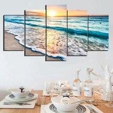 Sunset Beach Onda Del Mare Seascape Albero Tramonto Immagine di Arte Della Parete Pittura Stampa Su Tela per Living Room Decor trasporto di Goccia