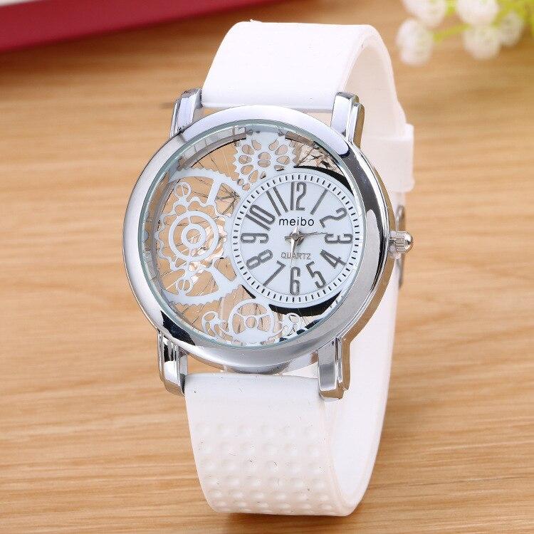 Hot Sales meibo Brand Silicone Watches Women Ladies Dress Jelly Quartz Wrist Watch Relogio Feminino
