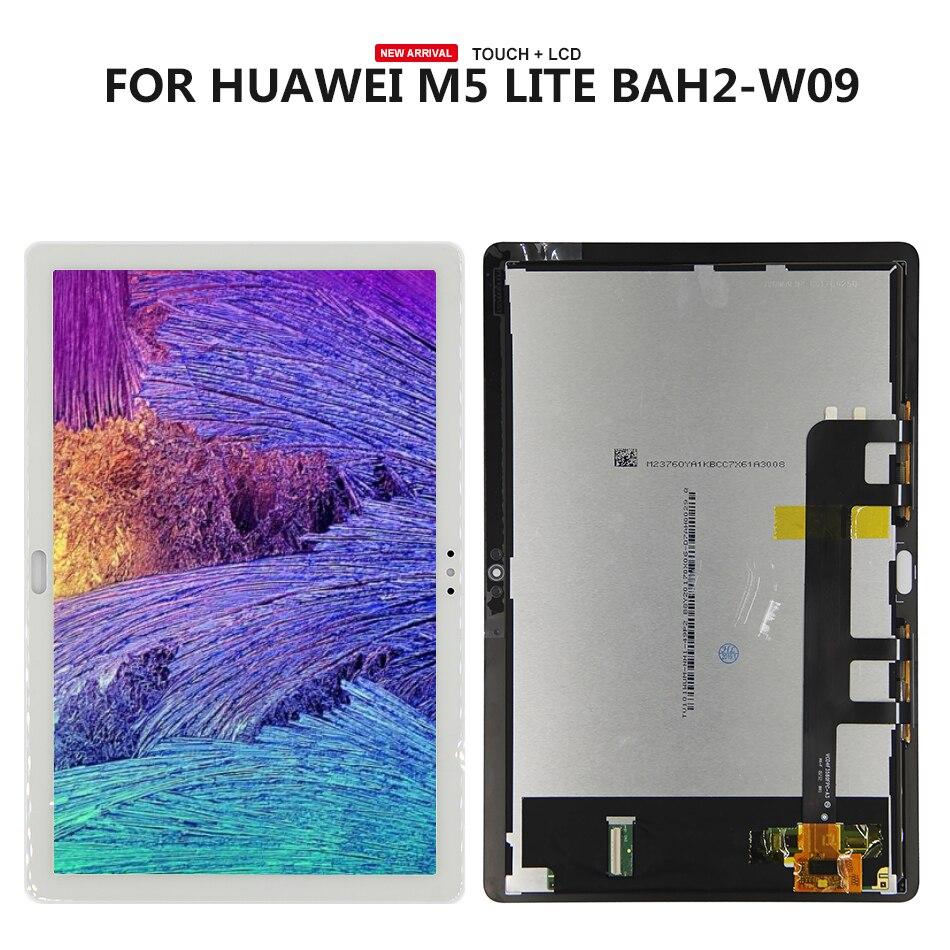 Pantalla LCD de montaje de digitalizador con pantalla táctil para Huawei Mediapad M5 Lite, pantalla LCD de 10 BAH2-L09 BAH2-L09C Bach2-L09C Bach2-W19C