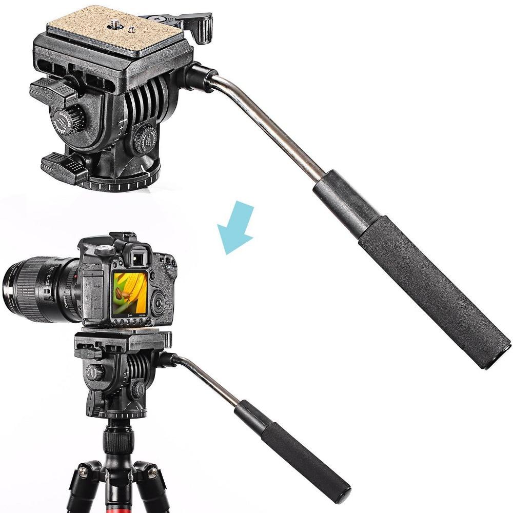 Neewer Professional Flexible Aluminum Camera Tripod Stand Monopod Tripod Head for Canon Nikon Sony SLR Camera innorel rt30 professional aluminum alloy tripod monopod add ball head max height 197cm 77 6in for outdoor camera video recorder