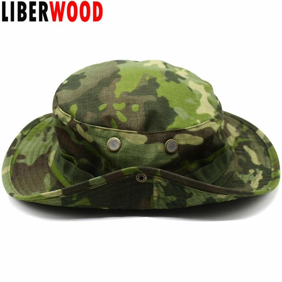 LIBERWOOD Tactical hat Boonie hat cap for Wargame,Sports,fishing,Hunting Multicam Airsoft Sniper cap Men bucket hats Sun Hat