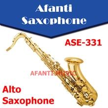 Afanti musique Eb ton/corps en laiton/finition or Saxophone Alto (ASE-331)