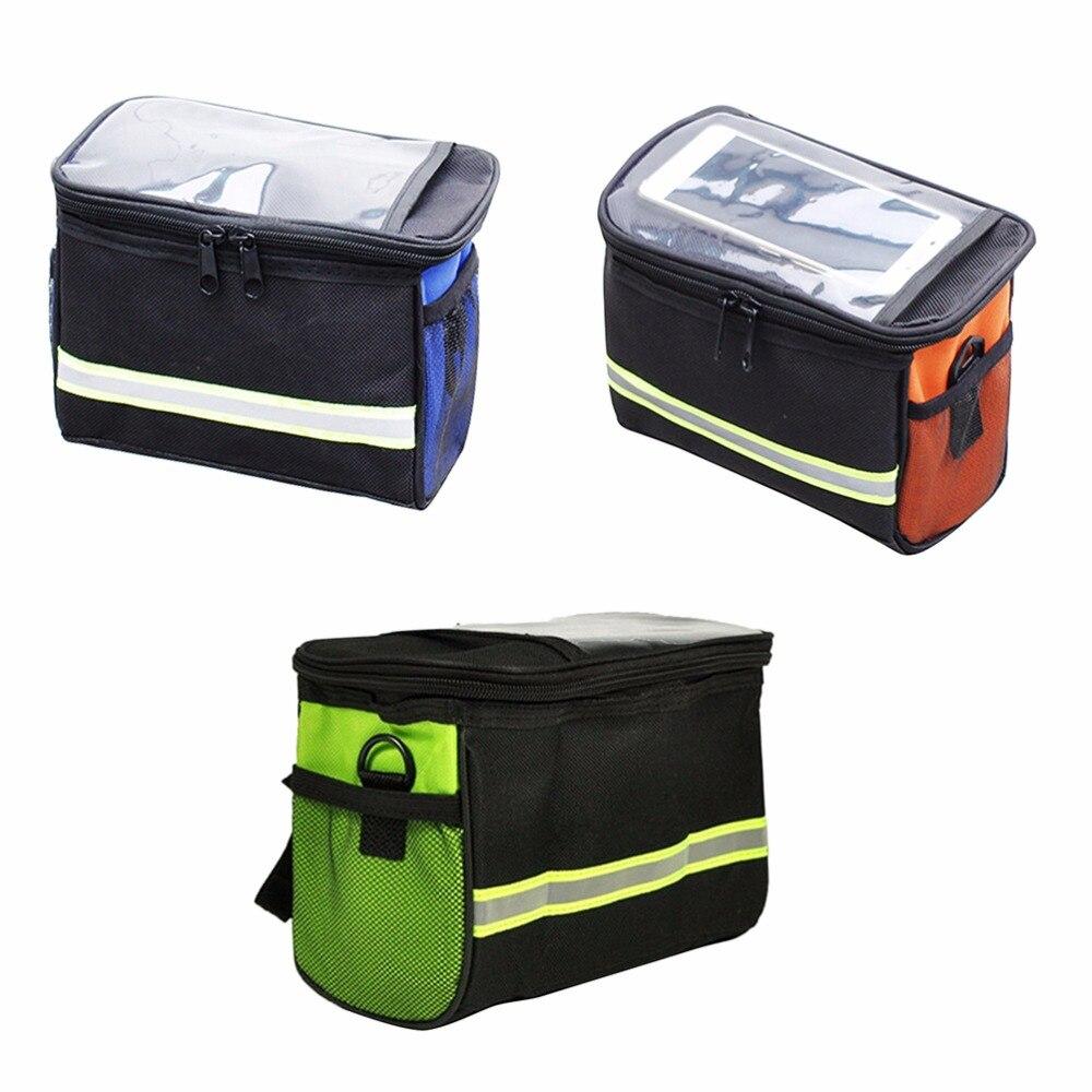 1 шт. 20 см * 15 см * 12 см оранжевые синие зеленые уличные велосипедные сумки для горного велосипеда передняя корзина Паньер трубки велосипедной рамы сумка на руль