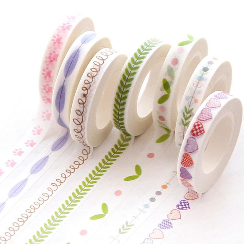 AliExpress - 0.7cm*10m Heart Kawaii Washi Tape Decoration Scrapbooking Papeterie Autocollant Masking Tape School Supplies Sticker Stationery