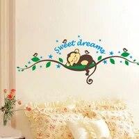 Autocollant mural vinyle mots Art singe   Etiquette de decoration murale en vinyle pour reve doux  decoration pour la maison  salon