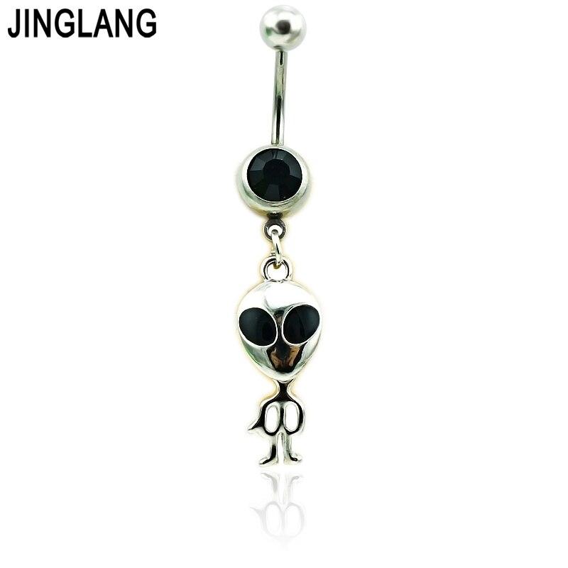 Los anillos clásicos del ombligo de JINGLANG de acero inoxidable cuelgan los anillos del ombligo de la gente del Metal para los hombres joyería del Piercing del cuerpo