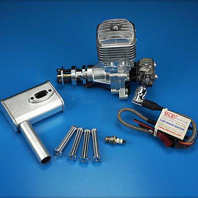 DLE30 бензиновый двигатель с электронным Igniton и глушитель для 30CC Fix модель крыла самолета Модель самолета обновленная