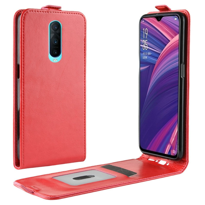 WIERSS Luxury Retro Leather Cover case for Oppo R17 Pro for Oppo R17 Wallet flip leather cases coque