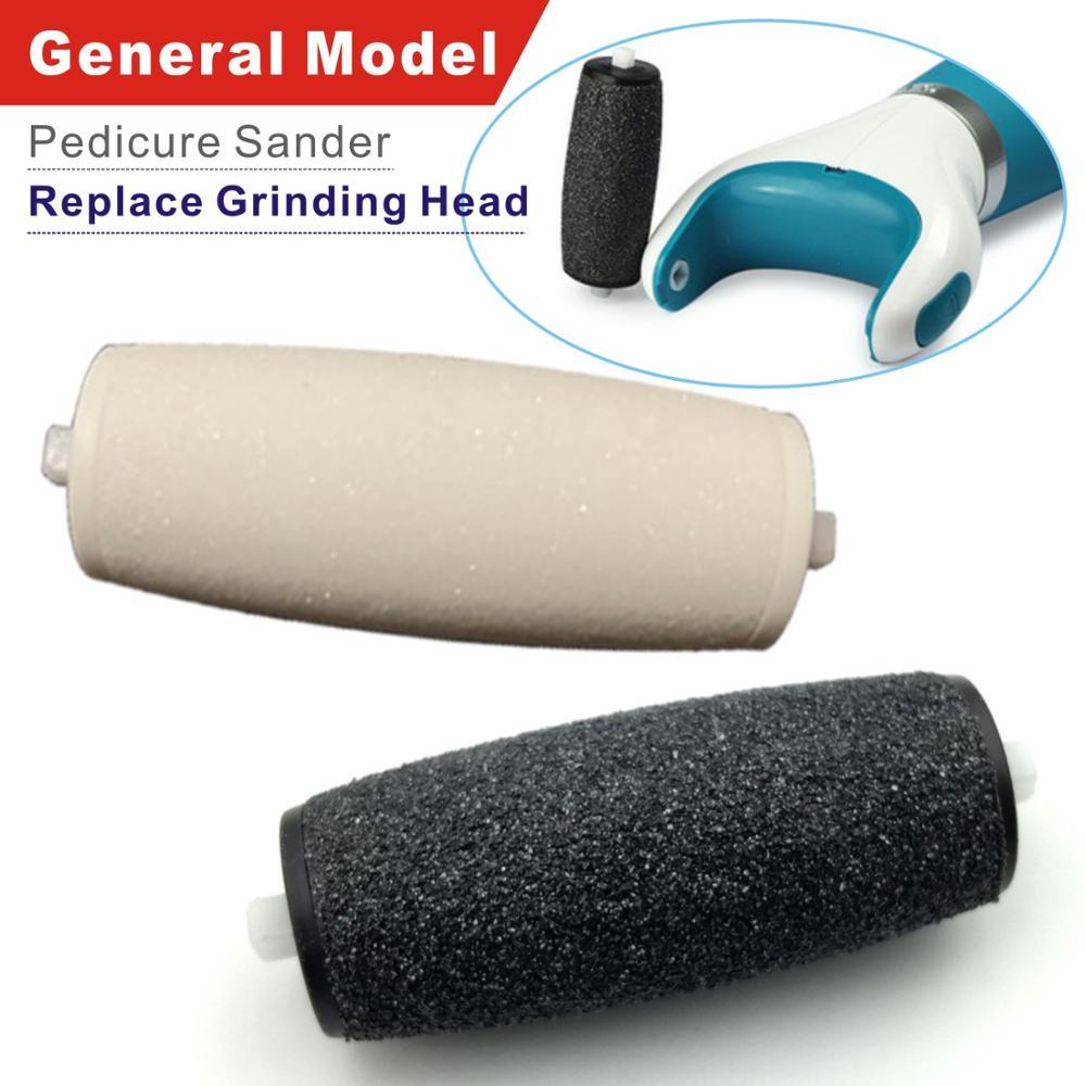 Reemplazo de 2 piezas de rodillo de repuesto de pie/removedor de piel dura Compatible con el archivo electrónico de pie de pedicura