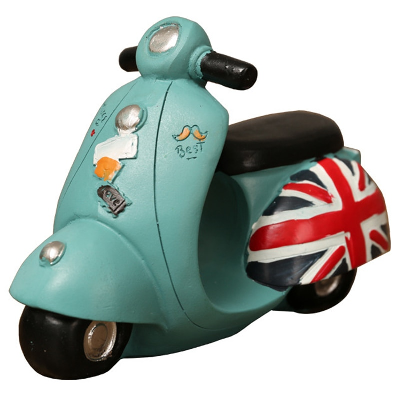 Estatuillas de decoración modelo motocicleta Retro británica, sala de estar estatuillas para, café, resina, motocicleta, adorno artesanal, decoración del hogar