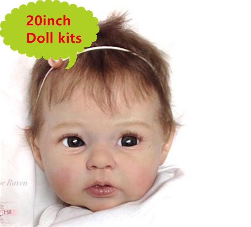 NPK 20 zestaw części ciała do lalek reborn Limited Edidtion realistyczne miękkiego silikonu winylu prawdziwy delikatny dotyk niepomalowane lalki części lalki akcesoria