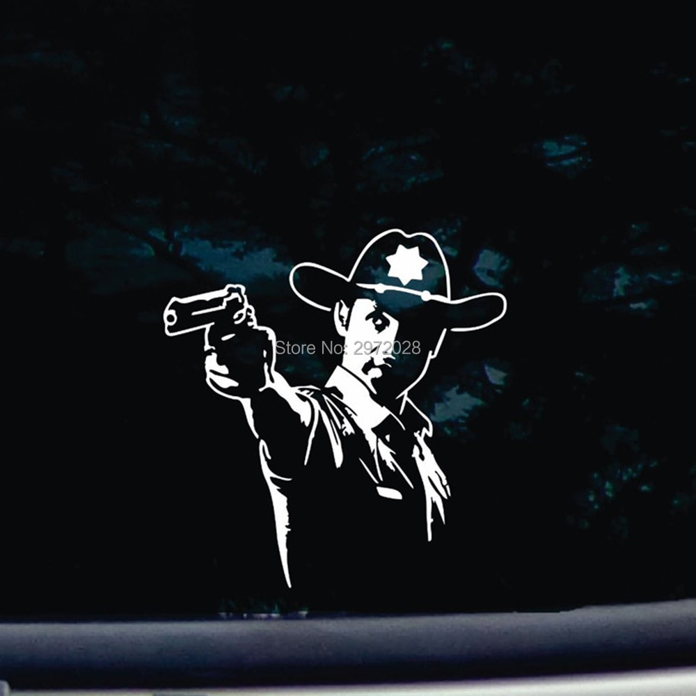 10 x Newest Design The Walking Dead Reflective Creative Auto Decal Cartoon Car Sticker  Bumper Body Decal Creative Pattern Vinyl