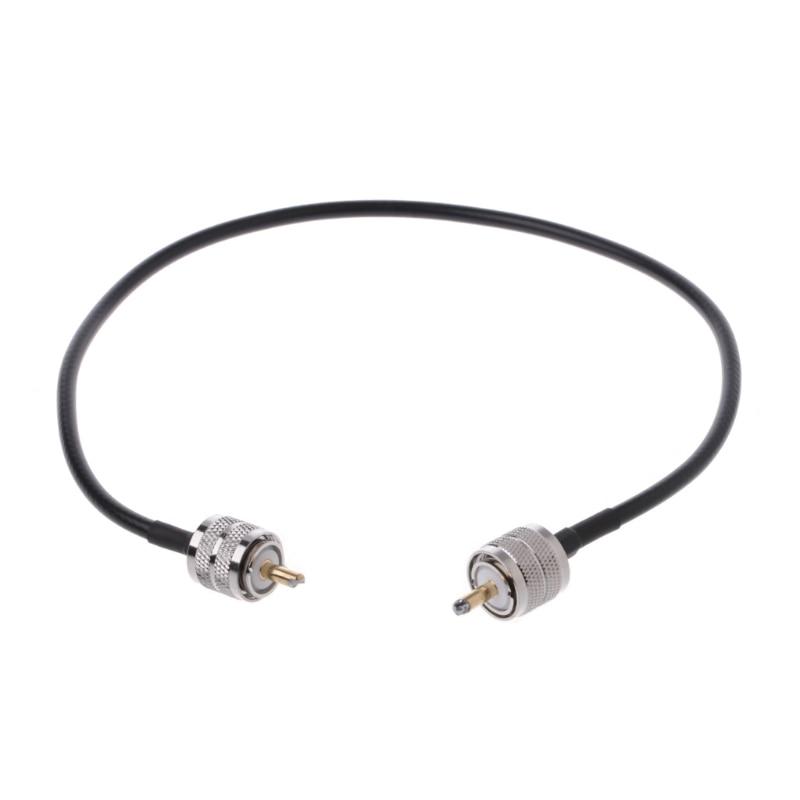 Conector de Cable Coaxial RF UHF PL259 macho a UHF macho PL259 RG58, Cable Pigtail 50cm L15