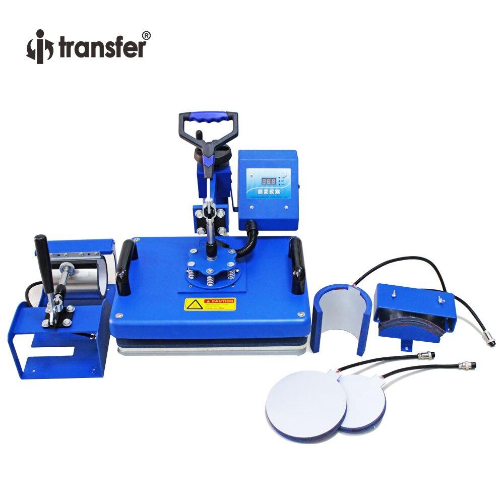 I-transfer 29*38CM borde redondo 6 en 1 Combo Transferencia de Calor/máquina de sublimación para tazas, sombrero, platos HPM01A6