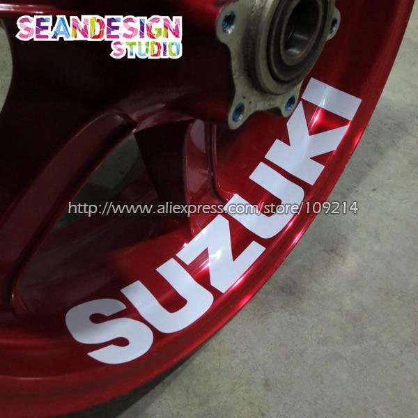 Para GSX-S1000 750 Hayabusa GSR750 GSX-R1000 750 de 600 V-Strom de la rueda de la motocicleta etiqueta engomada etiqueta reflectante borde bici adecuado