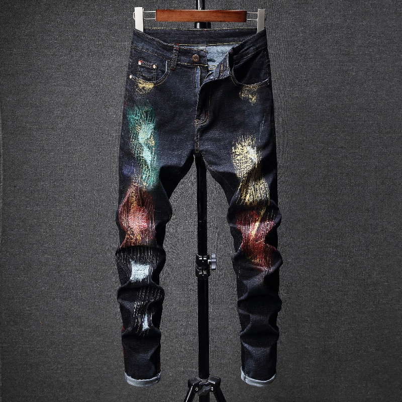 Los hombres Pantalones vaqueros De pantacourt hombre hombres clásico Calcas Masculino negro Skinny joggers De hip hop moda marca De lujo Vaquero