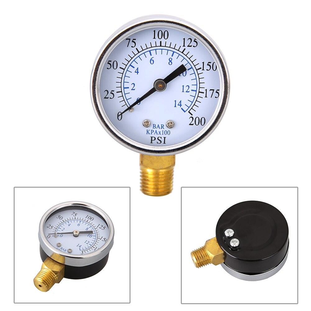 Manómetro de vacío de doble escala Mini Dial medidor de presión de vacío medidor de presión de rendimiento estable 0-200PSI