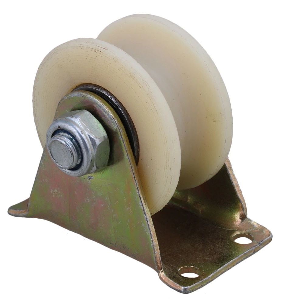 60mm U Groove rodillo para riel rueda Caster placa superior rígida para máquina herramienta