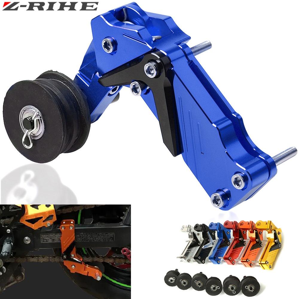 Tensor de cadena de rodillo de aluminio Universal para motocicleta, tensor de cadena, rodillo de perno, 6 colores para moto de cross, ATV
