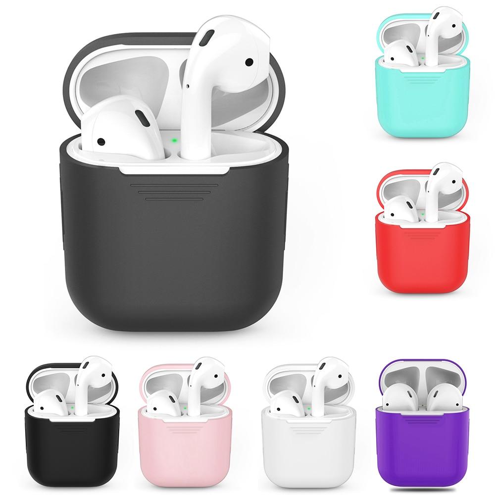 Funda de silicona para auriculares inalámbricos Bluetooth para AirPods TPU funda protectora para auriculares Apple para AirPods caja de carga