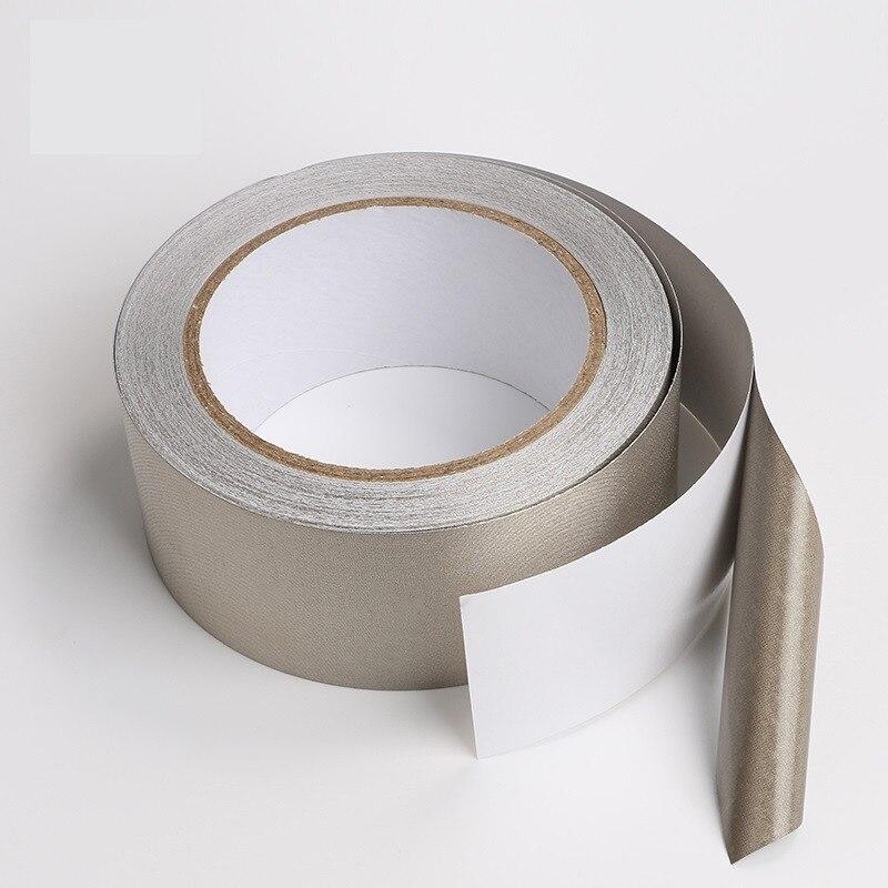 Cinta de tela conductora de plata 20*20mm cinta de tela LCD EMI Shield conductor de doble cara cinta de tela