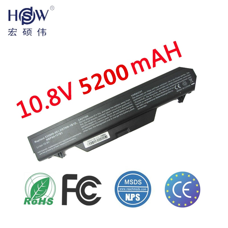 HSW 5200 MAH batería de 6 celdas para HP ProBook 4510 s 4515 s 4710 s 513129-361, 513130- 321, 535753-001-535808-001572032-001 591998-141