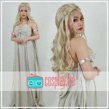 Daenerys Targaryen Cosplay gris robe longue