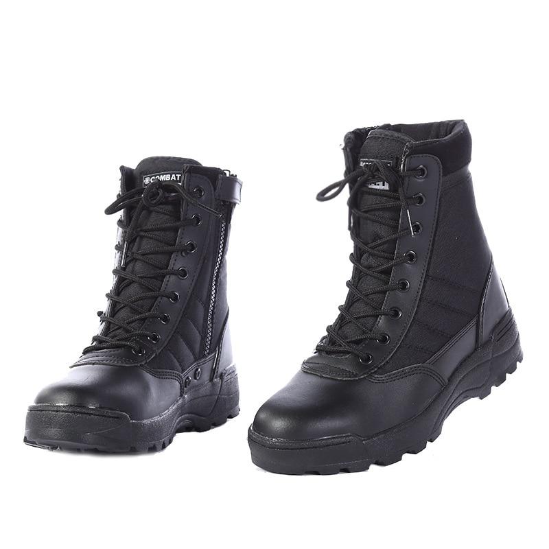 أحذية بوت عسكرية جديدة للرجال من الجلد الأمريكي لعام 2021 أحذية تكتيكية للمشاة القتالية بوتات للجيش أحذية Erkek Ayakkabi