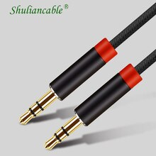 Shuliancable AUX Cable  3.5mm Audio Cable 3.5 Mm Jack Male To Male Audio Cable for Car   Headphone S