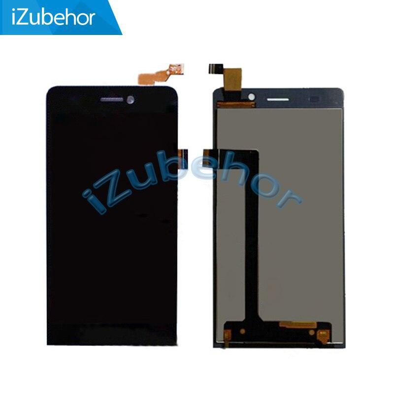 100% garantía negro pantalla LCD completa + digitizador para Highscreen Spider por El envío libre