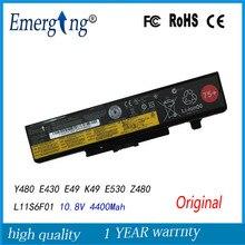 10.8 V 48WH Dorigine Nouvelle batterie dordinateur portable pour Lenovo IdeaPad Y480 Y580 V480 V580 Bord E430 E435 E530 E535 L11S6Y01 L11L6F01 L11L