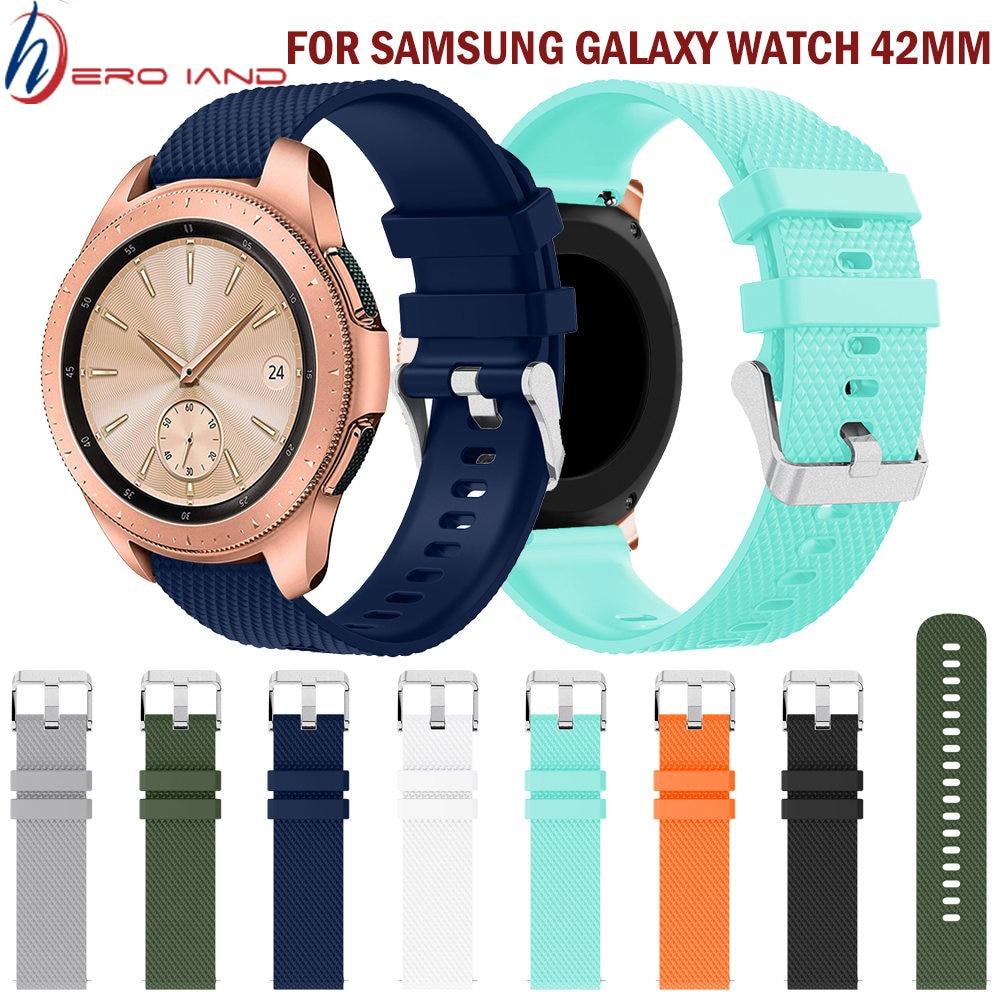 20mm correa de silicona para Samsung Galaxy reloj de oro rosa de goma hebilla pulsera-banda correa para R810 42mm versión