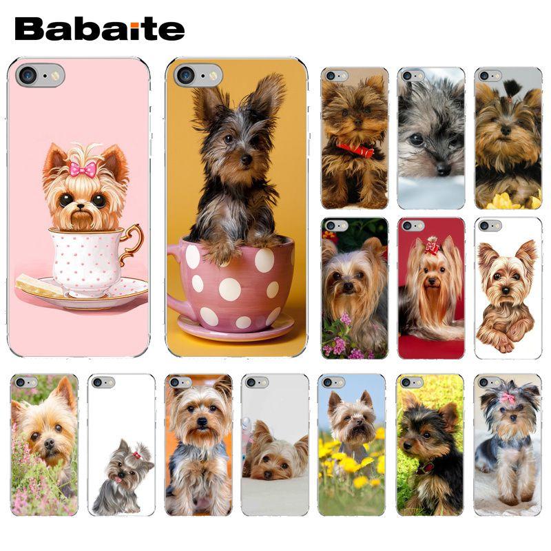 Carcasa de teléfono suave con foto personalizada de cachorro de perro yorkshire terrier Babaite para iPhone 5 5Sx 6 7 7plus 8 8Plus X XS MAX XR