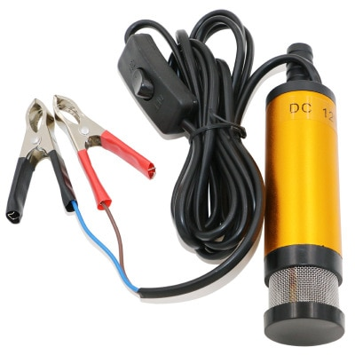 Portable Mini 12V 24V DC Electric Submersible Pump For Pumping Diesel Oil Water Aluminum Alloy Shell 12L/min Fuel Transfer Pump