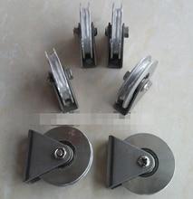 2Pieces/Lot Diameter:38mm 304 Stainless Steel U Grooved Pulley Bracket Wire Rope Pulley Wheels