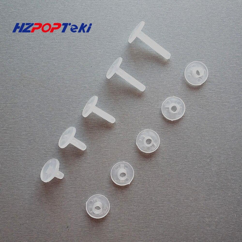 Пластиковые нейлоновые крепежные гайки винты гофрированные заклепки для кнопок