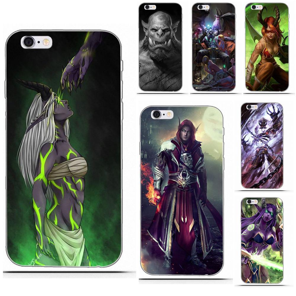 Mundo de warcrafts Wows para iPhone 4 4S 5 5C SE 6 6 S 7 8 Plus X Galaxy S5 S6 S7 S8 gran Core II primer alfa suave Capa cubierta