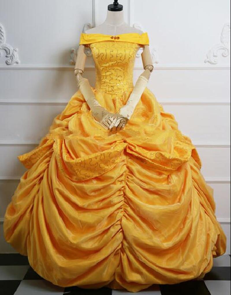 Новое поступление, косплей-костюм принцессы Moive Belle, платье на Хэллоуин для взрослых женщин, изготовленное на заказ