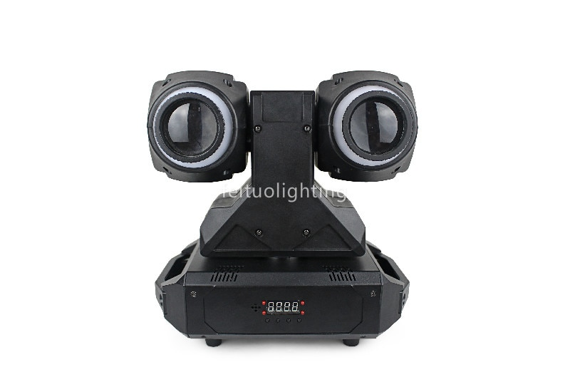 Paquete de 10 led de doble cara rgbw 2x30w mini cabeza móvil giratoria doble mini haz de luz de escenario