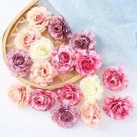 Tetes de roses artificielles en soie  10 pieces lot  fausses fleurs  pour decorer un Bouquet de mariee  pour un mariage  pour un nouvel an