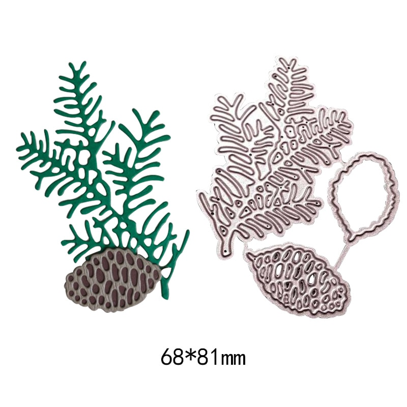 Natural plant pine tree metal new cutting dies Scrapbooking Stencil Craft die cut paper card Embossing photo album
