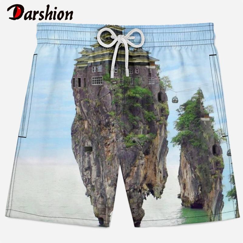 New 3D Casual Men Shorts 2019 Summer Forest/Landscape Pattern Men Beach Shorts Male Shorts homme Brand Clothing Plus Size XS-4XL