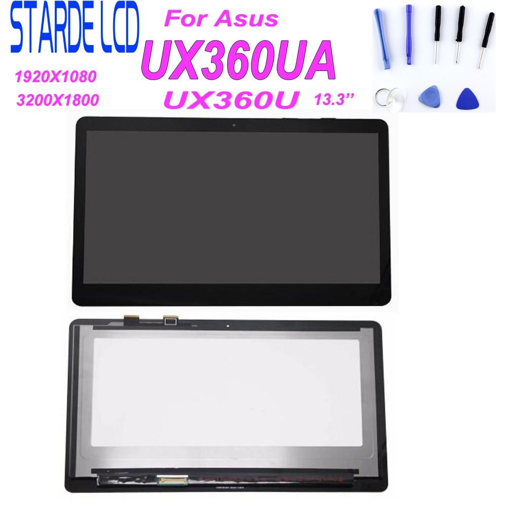 13,3 para Asus Zenbook UX360U ux360ui LCD pantalla táctil digitalizador montaje 3k UHD 3200*1800 panel de ordenador portátil ip133qd1 SPB2 40 PIN