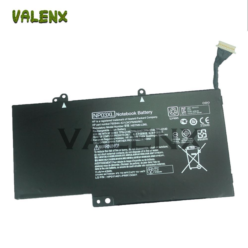 11.4V 43Wh NP03XL NP03 Bateria do portátil Para Pavilion X360 13-A010DX 13-b116t Envy 15-U010DX 15-U337CL 15-U050CA