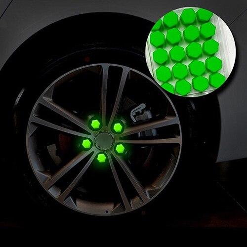 20 unids/bolsa 17mm 19mm 21mm perno del coche tapas tuercas de rueda cubiertas de silicona práctico tapón de roscar protector del cubo