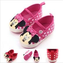 Chaussures pour bébés filles   Chaussures de berceau à semelle souple, nouveau design de dessin animé