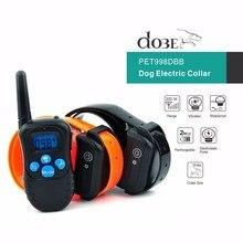 Training Collar Dog Electronic Shock Vibrate Dob Bark Collar Remote Control Pet Dog Training Collar For 2 Dog 300M
